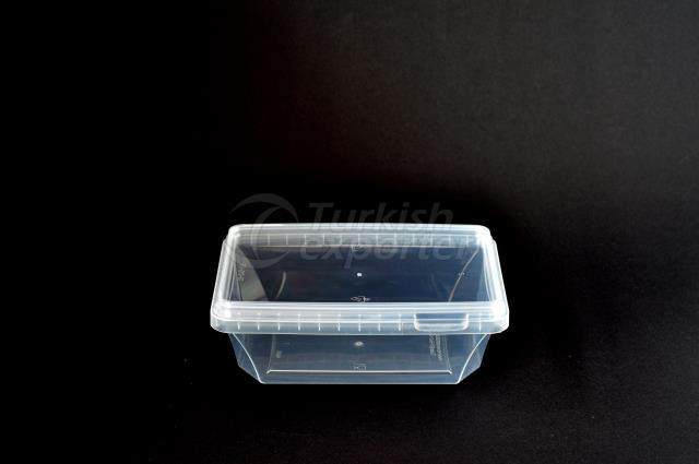 400 ml plastic rectanguar case