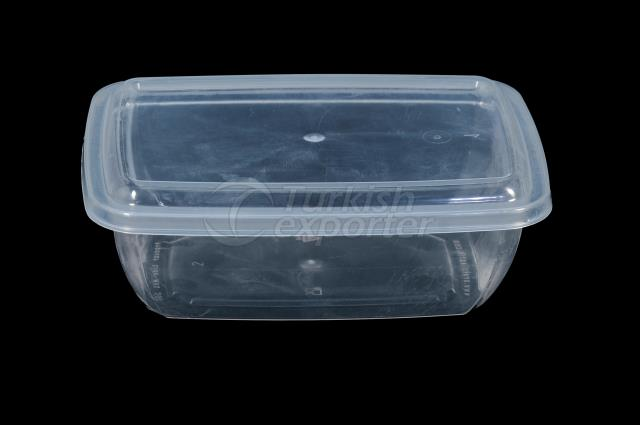 200 ml plastic rectangular case