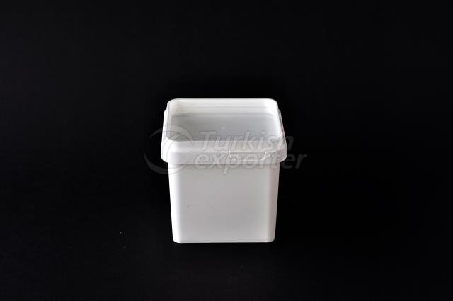 500 ml plastic square box