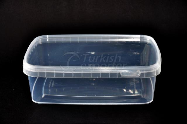 2000 ml plastic rectangular box