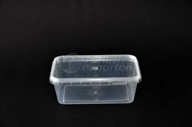 500 ml plastic rectangular case