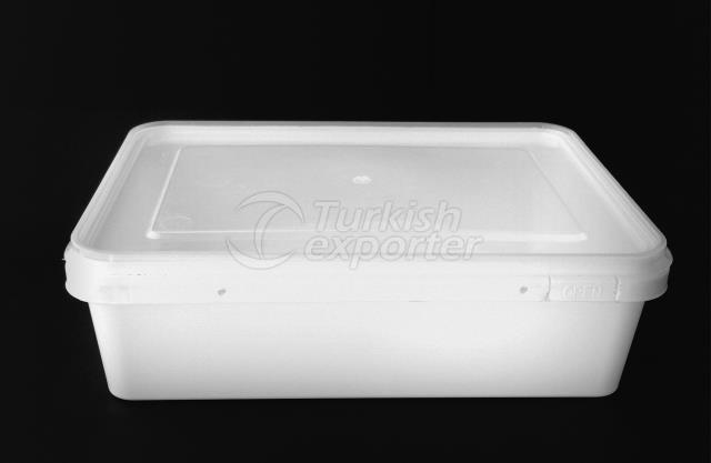 3000 ml plastic square box