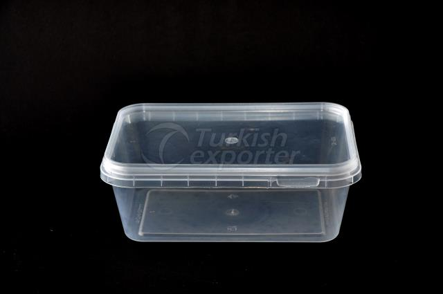 700 ml plastic rectangular box