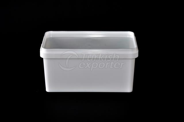 1000 ml plastic rectangular box