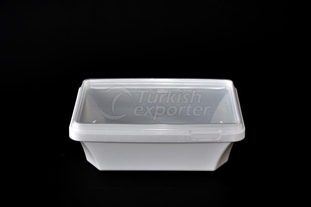 850 ml plastic rectangular box