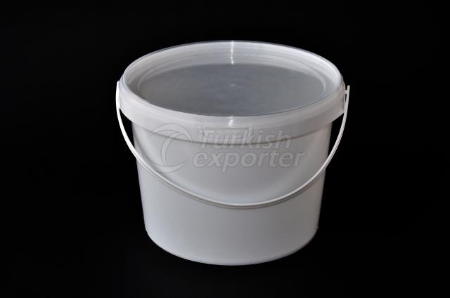 2000 ml plastic round bucket