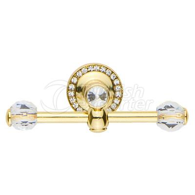 Damla Gold Double Robe Hook