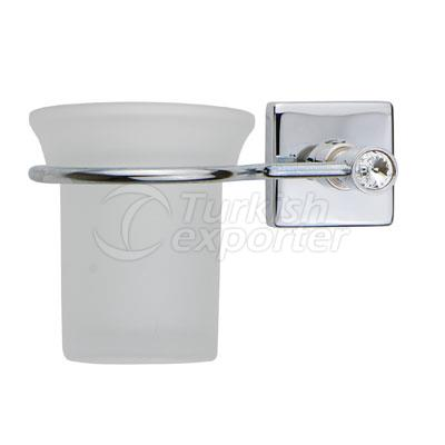 Stony Chrome Toothbrush Holder