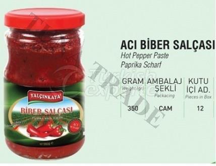 Pepper Paste Hot Glass Jar