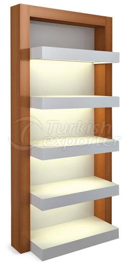 Wooden Glassware Shelf Systems