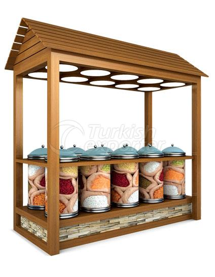 Special Wooden Legumes Stand