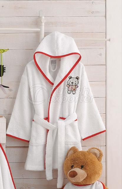 Bear Bamboo Kids Bathrobe