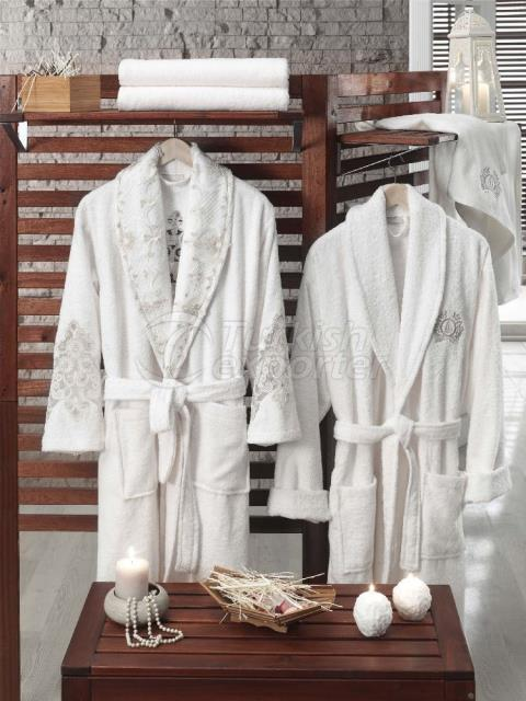 Afrodit Bathrobe Set for Family (Cream-Cream)