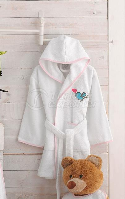 Birds Bamboo Kids Bathrobe