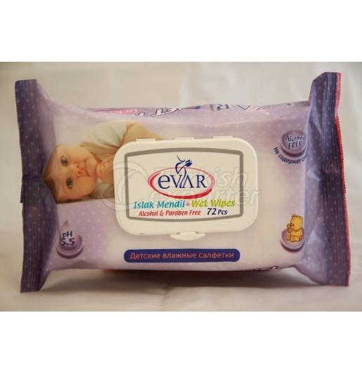 EVAR WET WIPE 72 pcs LUX