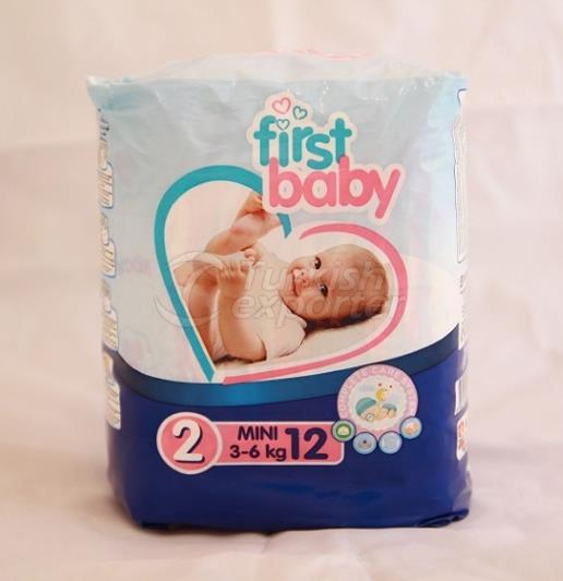 FIRST BABY 2 NO MINI BABY DIAPER 3-6 KG