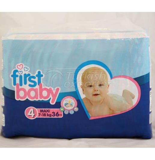 FIRST BABY 4 NO MAXI BABY DIAPER  7-18 KG