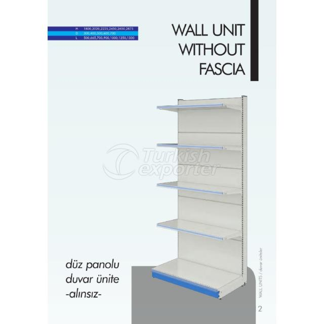 Wall Unit without Fascia