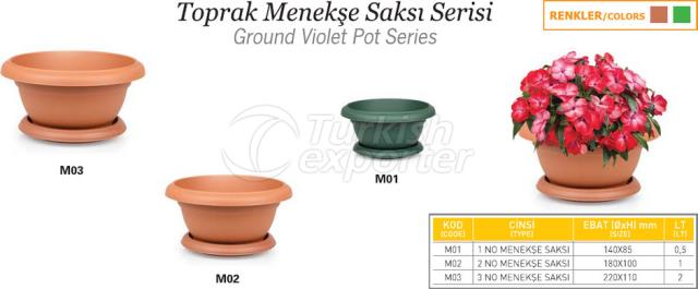 Ground Violet Pot