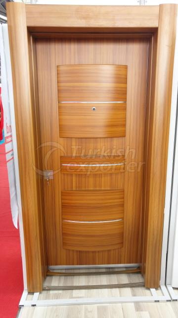 Embossed steel door from Turkey