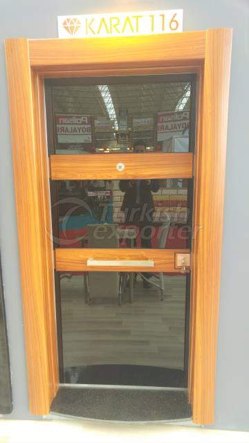 Decorative steel doors