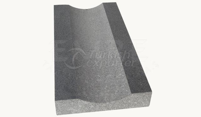 Basalt Water Gutter Brushed