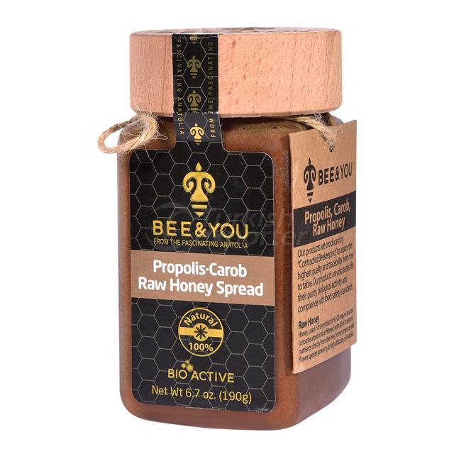 Propolis Carob Raw Honey 190gr