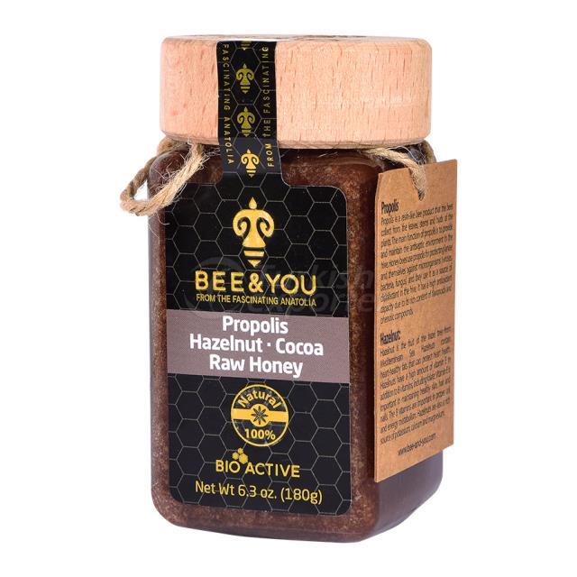 Propolis Hazelnut Cocoa Raw Honey 190gr