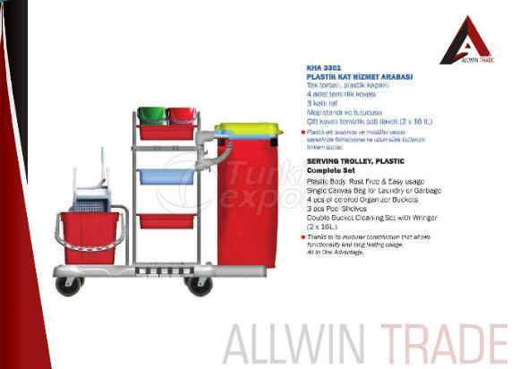 Plastic Serving Trolley Set