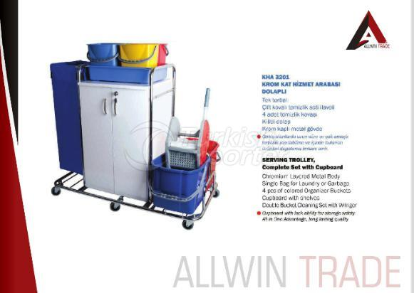 Serving Trolley with Cupboard