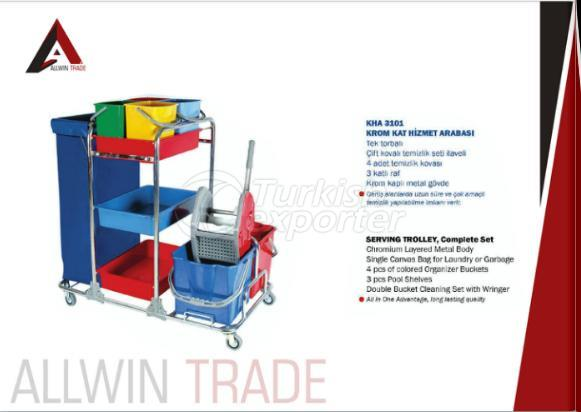 Serving Trolley Complete Set