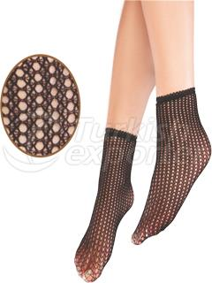 Laced Fishnet Ankle High
