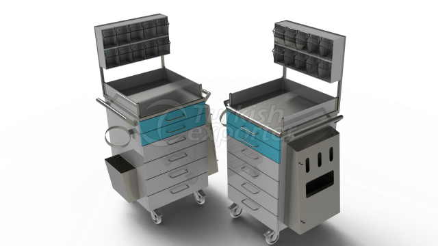 MEDICINE AND ANESTHESIA TROLLEY