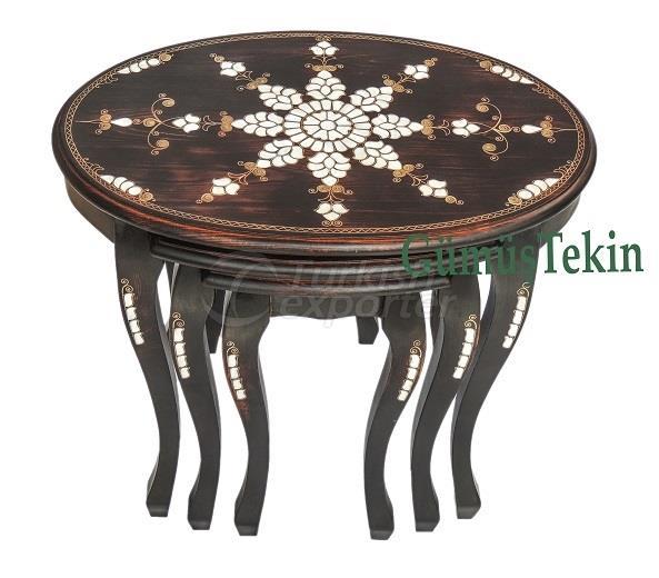 Pearl Inlaid Coffee Table 3pcs