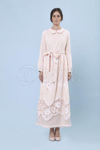 Jacquard Dress 6129 Powder Color