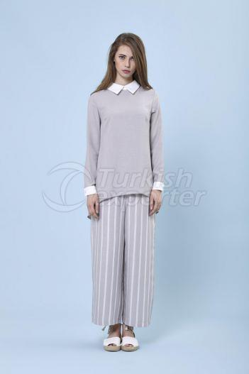 Flared Trousers 5132 Gray