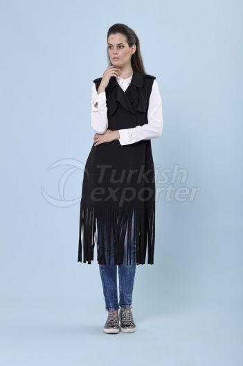Fringed Vest 1121 Black