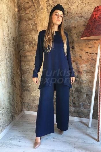 Silvery Blouse Trouser 2301 Navy Blue