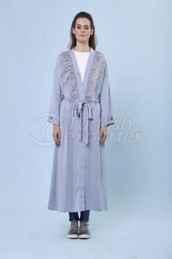 Feathered Neck Ferace 7166 Blue