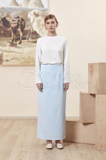 Pencil Skirt 4511 Baby Blue