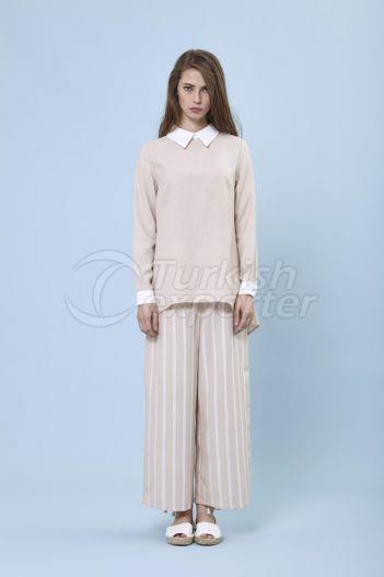 Flared Trousers 5132 Beige