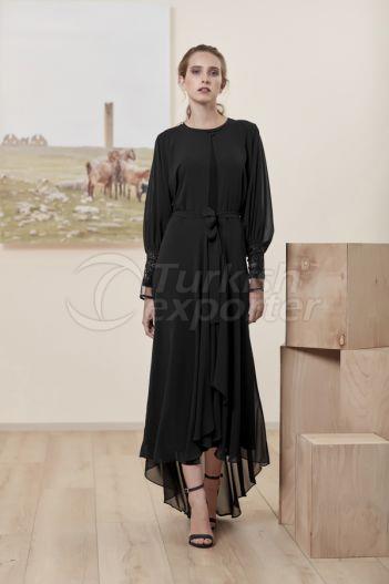 Lace Tulle Ferace 7164 Black