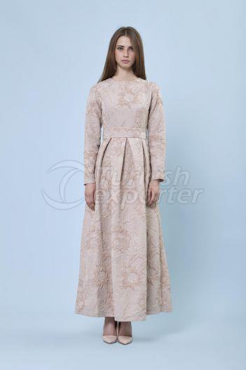 Jacquard Dress 6134 Powder Color