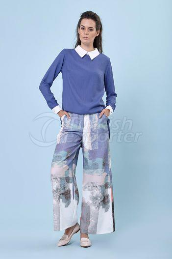 Flared Trousers 5159 Indigo