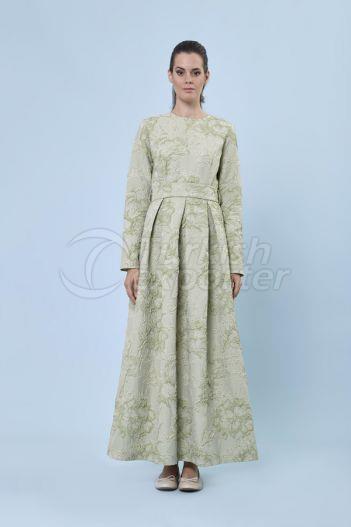 Jacquard Dress 6134 Green