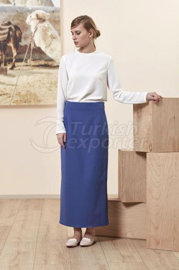 Pencil Skirt 4511 Indigo