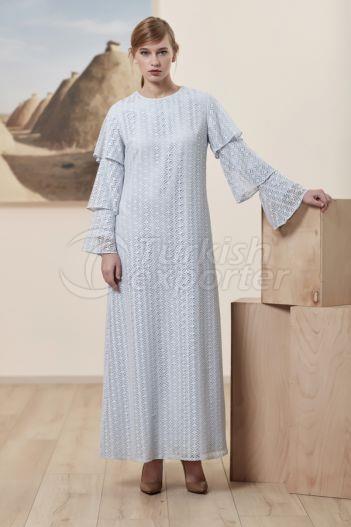Jacquard Dress 6132 Blue