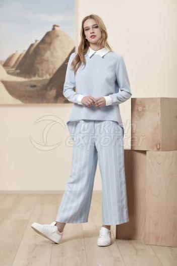 Flared Trousers 5132 Blue