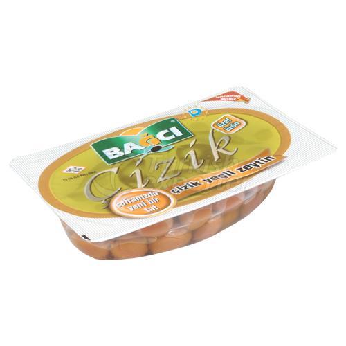 Green Olives Scratched