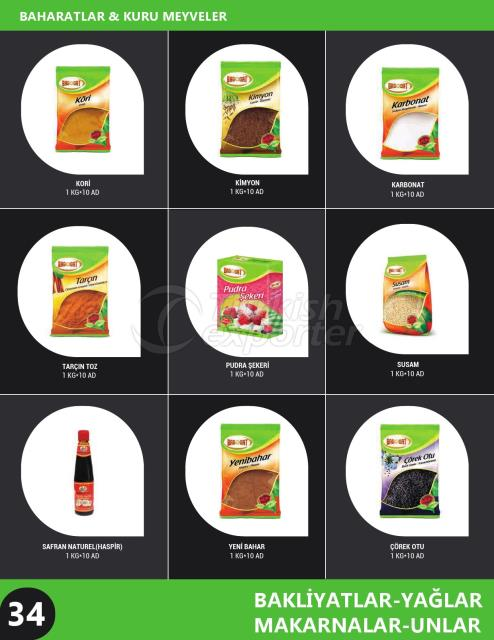 Spices - Dried Fruits